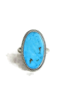 Kingman Turquoise Ring Sizez 8 by Jake Sampson (RG4403)