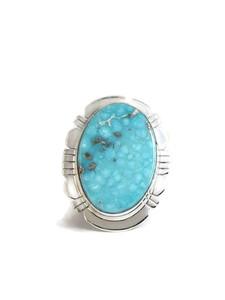 Kingman Turquoise Ring Size 9 by Phillip Sanchez (RG4405)