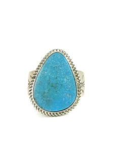Kingman Turquoise Ring Size 12 by Lyle Piaso (RG4424)