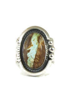 Royston Boulder Turquoise Ring Size 12 1/2 by John Nelson (RG4426)