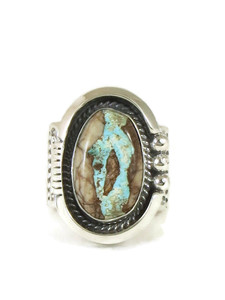 Royston Boulder Turquoise Ring Size 12 by John Nelson (RG4427)