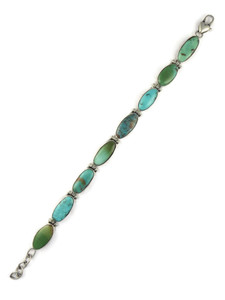 Royston Turquoise Sampler Link Bracelet by Happy Piaso (BR6248)