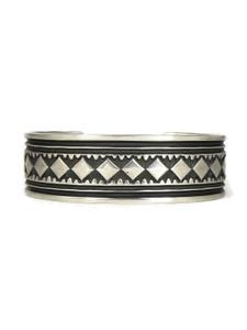 Hand Stamped Silver Cuff Bracelet by Albert Jake (BR6249)