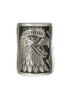 Silver Eagle Ring Size 9 1/4 by Freddy Charley (RG4515)