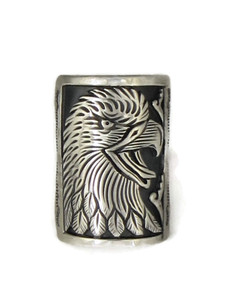 Silver Eagle Ring Size 9 1/4 by Freddy Charley (RG4515)