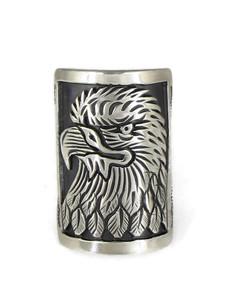 Silver Eagle Ring Size 8 by Freddy Charley (RG4516)