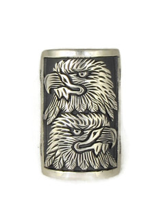 Silver Double Eagle Ring Size 8 by Freddy Charley (RG4517)