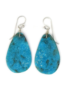Turquoise Slab Earrings by Ronald Chavez (ER5286)