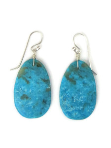 Turquoise Slab Earrings by Ronald Chavez (ER5287)