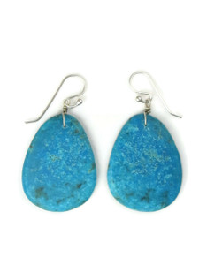 Turquoise Slab Earrings by Ronald Chavez (ER5295)