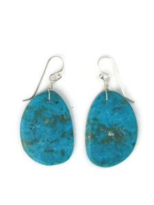 Turquoise Slab Earrings by Ronald Chavez (ER5296)