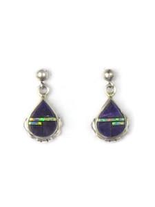 Sugilite Inlay Earrings by Ervin Hoskie (ER5339)
