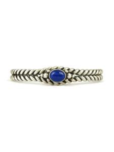 Lapis Silver Twist Bracelet (BR6251)