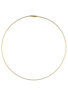 14k Gold Rolled Omega Necklace (NK4592)