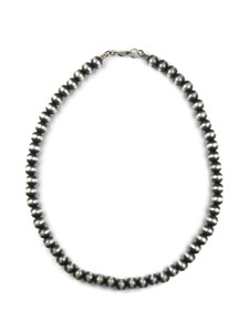 "Antiqued 8mm Bead Necklace 18"" with Lobster Clasp (NK4593)"