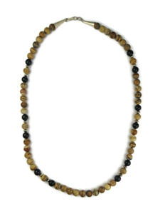 "Jasper & Onyx Bead Necklace 23 1/2"" (NK4595)"