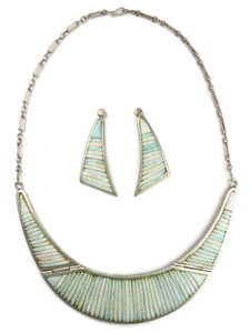 Opal Corn Roll Inlay Necklace Set by Pete Sierra (NK4597)