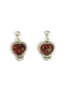 Amber Heart Earrings (ER5347)