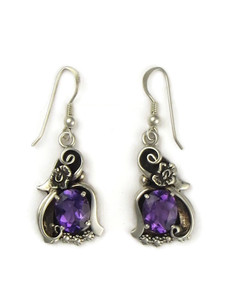 Silver Amethyst Earrings by Les Baker (ER5350)