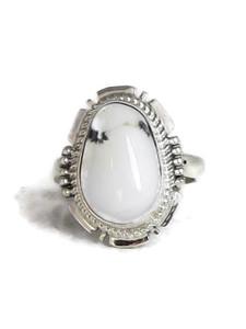 White Buffalo Ring Size 9 by Jake Sampson (RG4521)