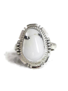 White Buffalo Ring Size 9 by Jake Sampson (RG4521)