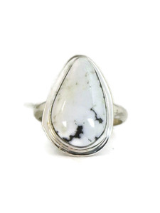 White Buffalo Ring Size 9 by Lyle Piaso (RG4527)
