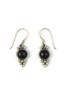 Silver Onyx Dangle Earrings (ER5352)