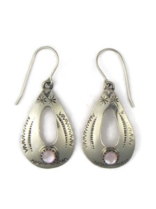 Pink Mother of Pearl Dangle Earrings (ER3561)