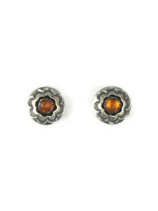 Silver Amber Post Earrings (ER5364)