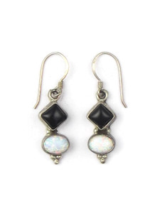 Onyx & Opal Dangle Earrings (ER5366)
