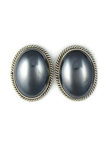 Large Hematite Post Earrings (ER5368)