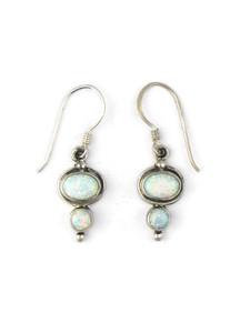 Silver Opal Dangle Earrings (ER5370)