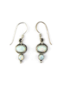 Silver Opal Dangle Earrings (ER5370)