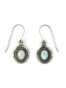 Silver Opal Dangle Earrings (ER5371)