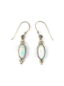 Silver Opal Dangle Earrings (ER5375)
