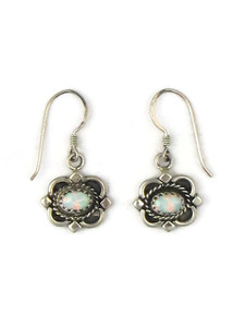Silver Opal Dangle Earrings (ER5377)