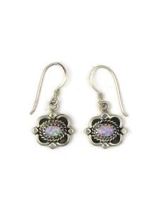 Silver Pink Opal Dangle Earrings (ER5378)