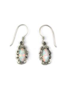 Silver Opal Dangle Earrings (ER5383)
