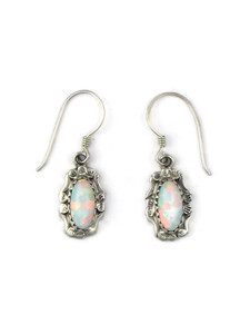 Silver Opal Dangle Earrings (ER5383)