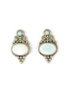 Silver Opal Post Earrings (ER5390)