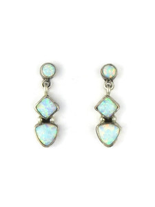 Silver Opal Post Dangle (ER5391)