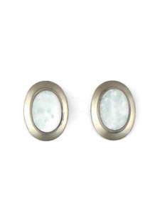 Silver Opal Post Earrings (ER5397)