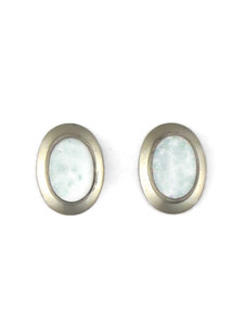 Silver Opal Post Earrings (ER5397)