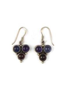 Amethyst, Iolite & Garnet Earrings (ER5403)