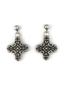 Silver Cross Earrings (ER5406)