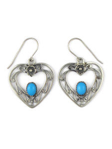 Sleeping Beauty Turquoise Heart Earrings (ER5410)