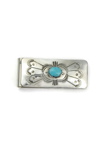 Kingman Turquoise Money Clip (MC832)