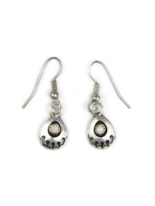 Small Silver Opal Bear Paw Earrings (ER5413)