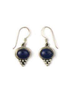 Silver Lapis Dangle Earrings (ER5414)
