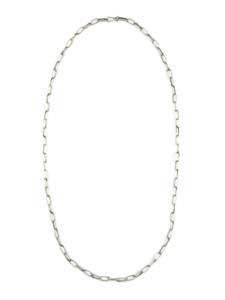 "Handmade Silver Link Chain 24"" by Sally Shurley (NK400-24)"